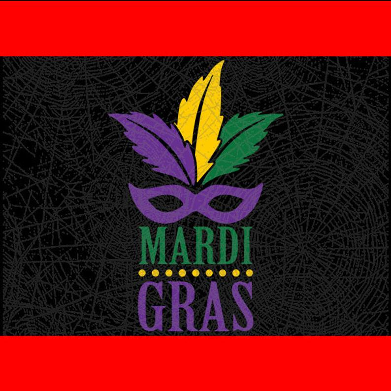 Mask Mardi Grass Cut File // DxF // EPS // PDF //