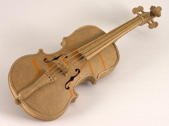 Cardboard violin stuff pinterest cardboard violin ccuart Image collections