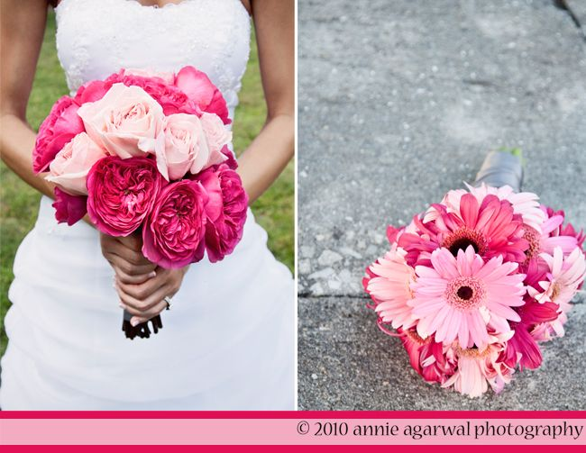 Love Garden Roses: 1 Wedding Flowers Light Pink Hot Pink Garden Roses Gerbera