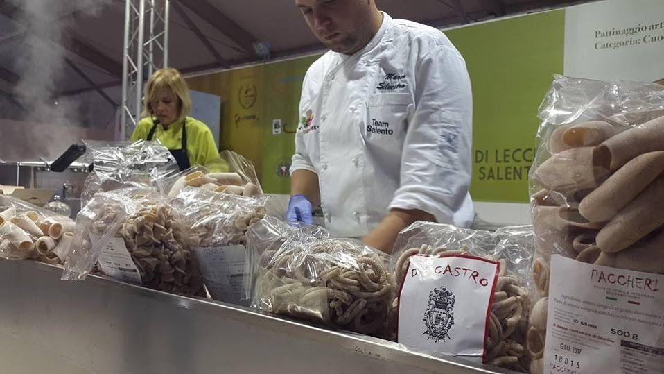 """Nel Forum Cucina cooking show della """"Pasta di Saragolla"""" a cura dell'azienda De Castro 100% saragolla, presentata dallo Chef Alessandra Moschettini."""