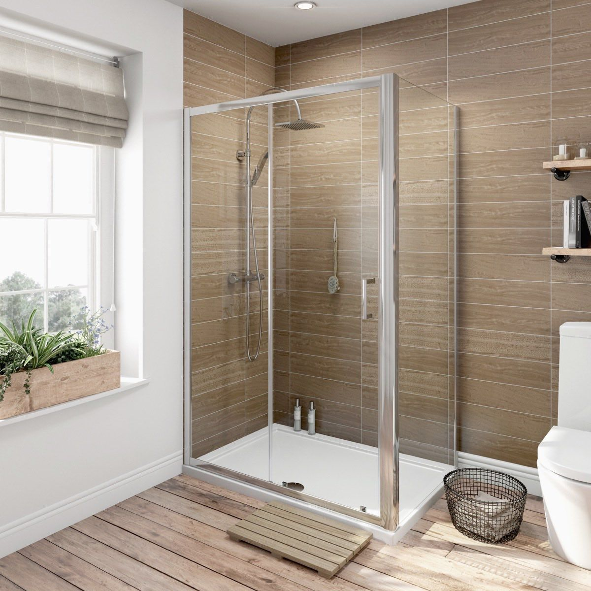 Orchard 6mm sliding door rectangular shower enclosure | Shower ...