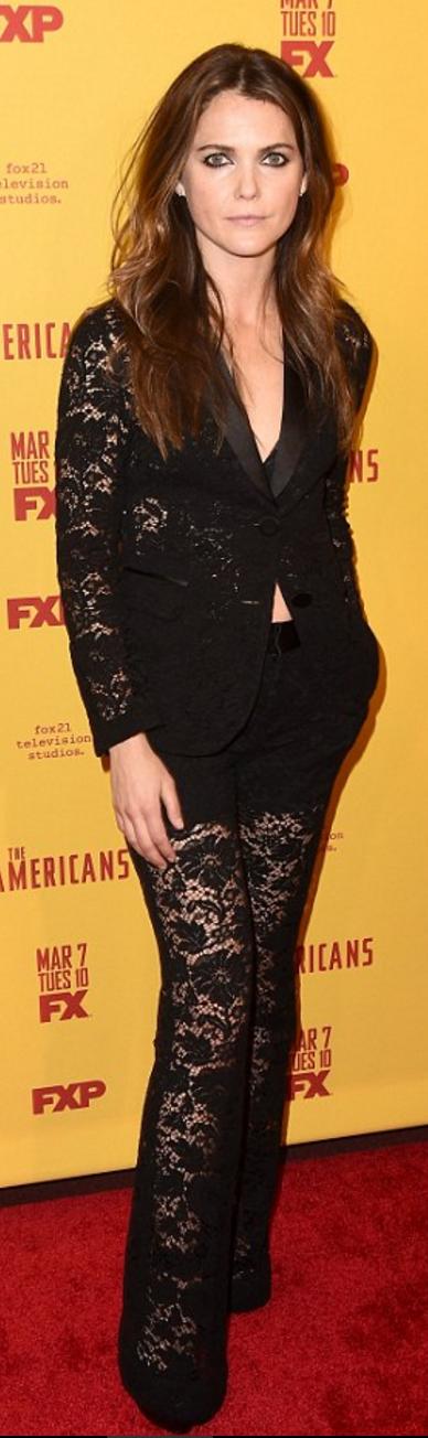 Keri Russell wearing Gucci