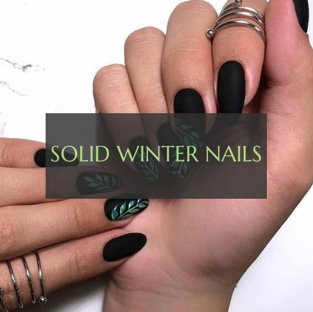 Ongles D'hiver Solides Solid Winter Nails
