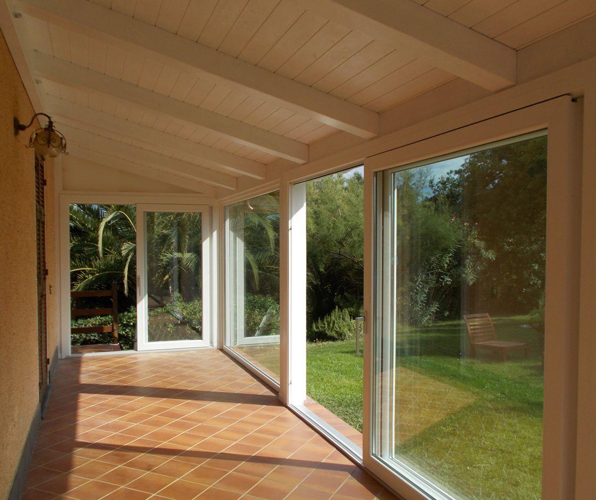 Terrazze Chiuse Con Vetrate veranda con alzanti scorrevoli psk e fissi profilo koncept