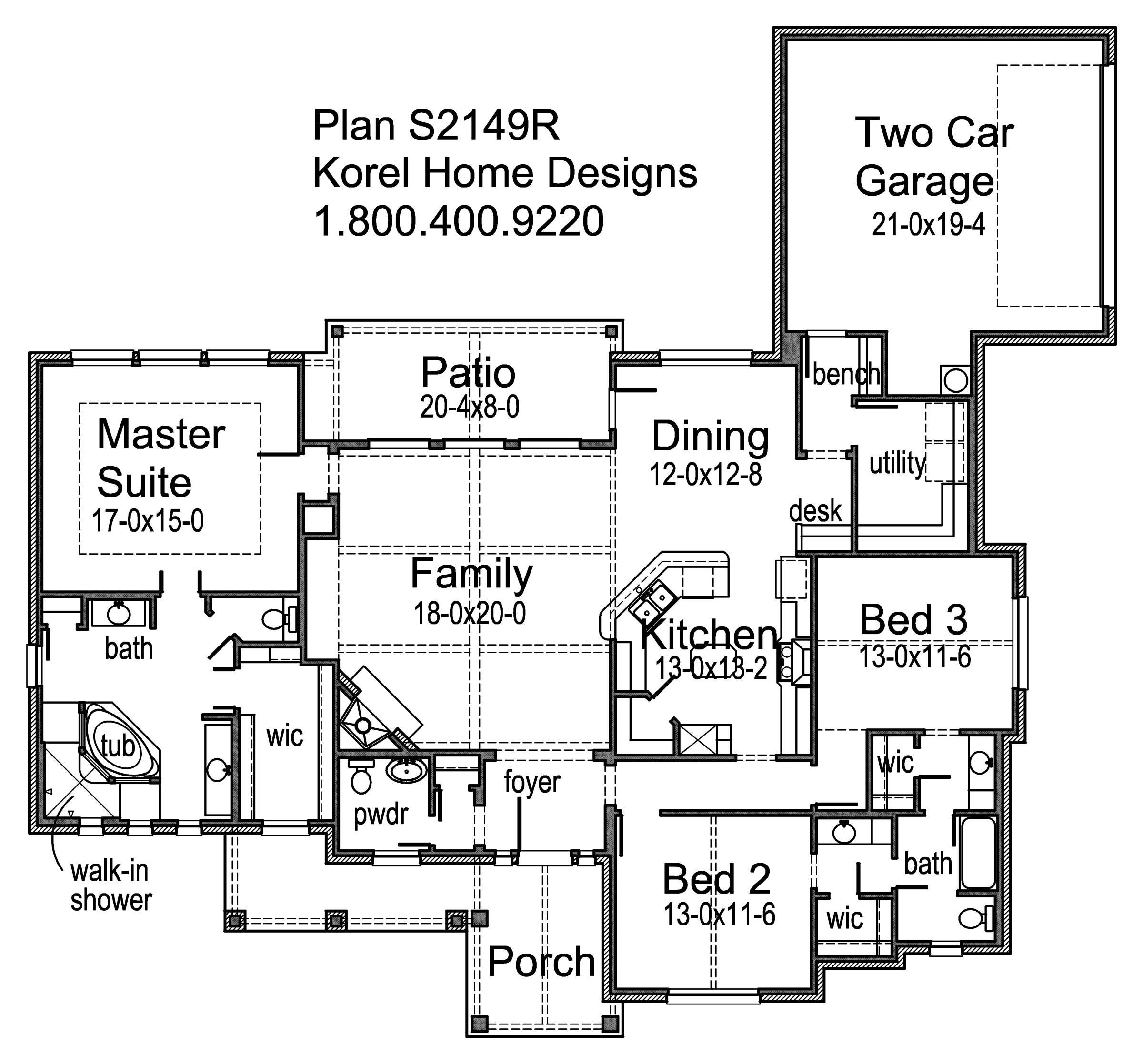 Texas House Plans Over 700 Proven Home Designs: House Plans By Korel Home Designs