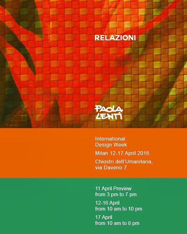 RELAZIONI Paola Lenti International Design Week Milan 12-17 April 2016  #paolalenti #isaloni #isaloni2016 #igersmilano #salonedelmobile #fuorisalone #fuorisalone2016 #design #designweek #designweekmilano #decor #architecture #furniture #milan #italy #seeyousoon #salonemilano #milano #salonedelmobile @isaloniofficial by paola_lenti_official
