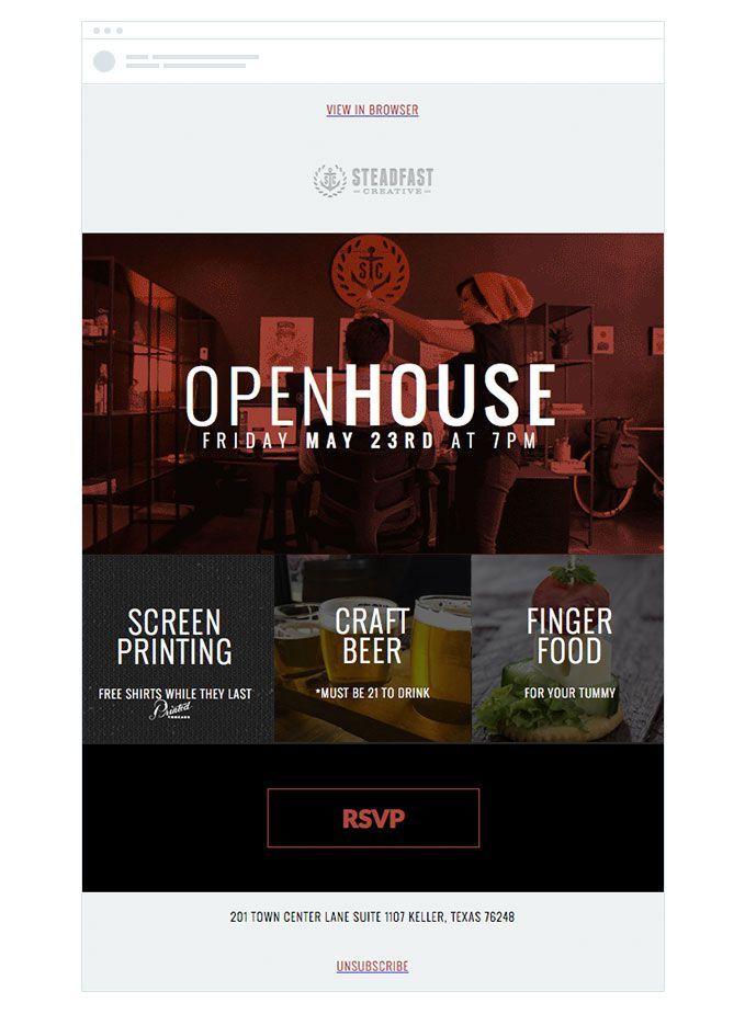 Image result for email invite design | Email invite | Pinterest ...
