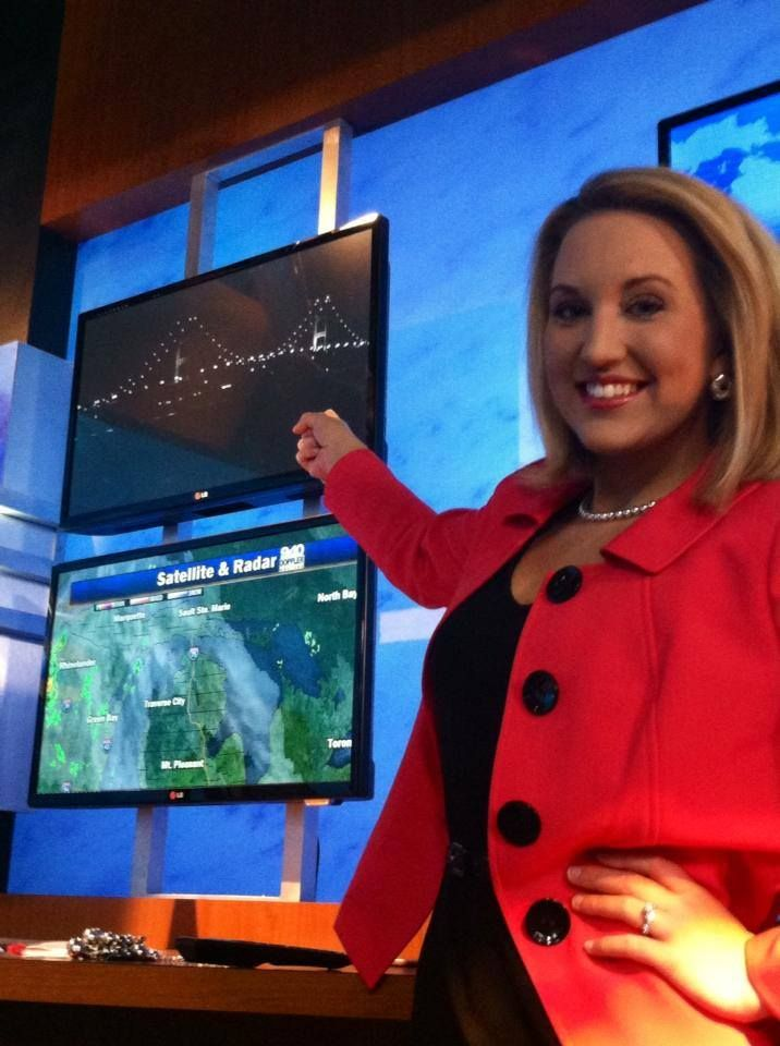 HAPPY FRIDAY! In the weather center before the show with our Straits Area Skycam...because I'm heading to Mackinac Island this weekend with family for the Lilac Fest! It's going to be BEAUTIFUL! What are your weekend plans? - Sara Simnitch 6.6.14