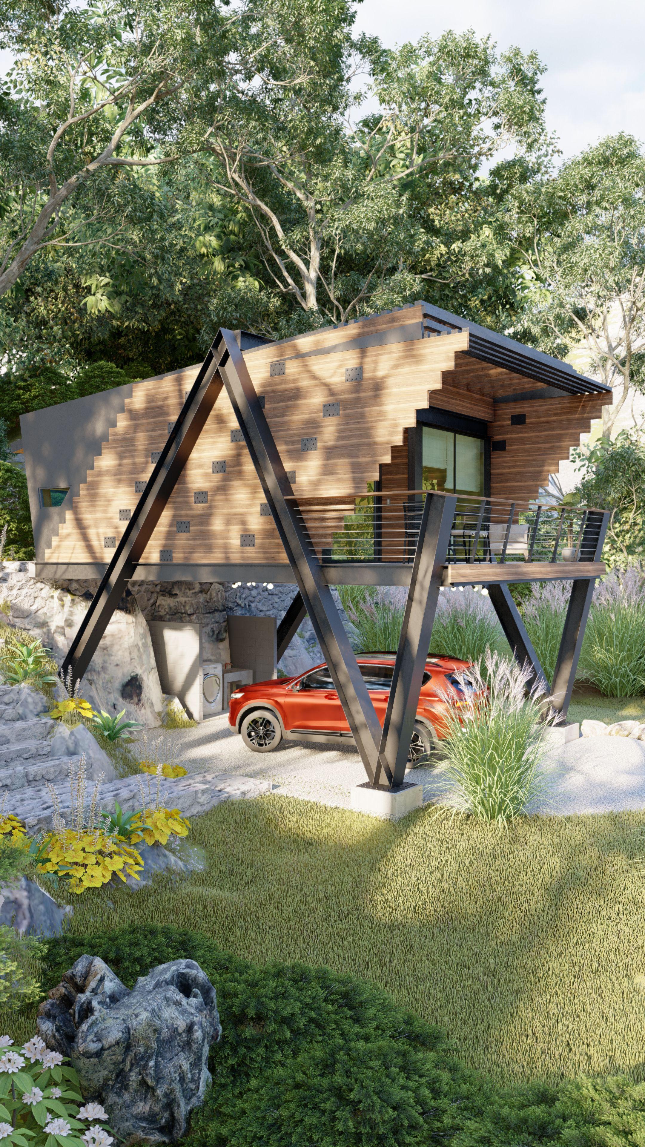 Cabaña Moderna Brownwood