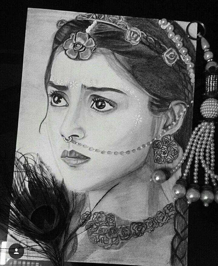 cute pencil drawing of radha radha krishna in 2019