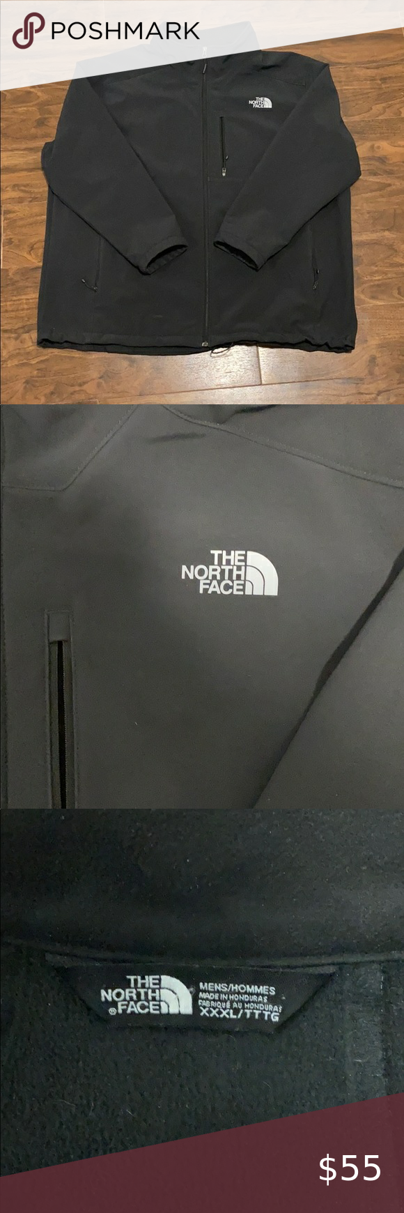 The North Face Men S Zip Up Black Jacket Size 3x North Face Mens Black Jacket The North Face [ 1740 x 580 Pixel ]