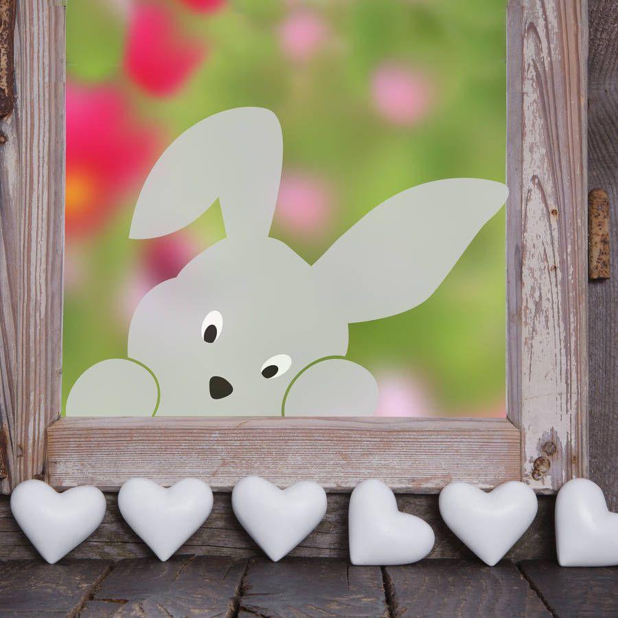 Peeping Bunny Window Sticker #decorationequipment