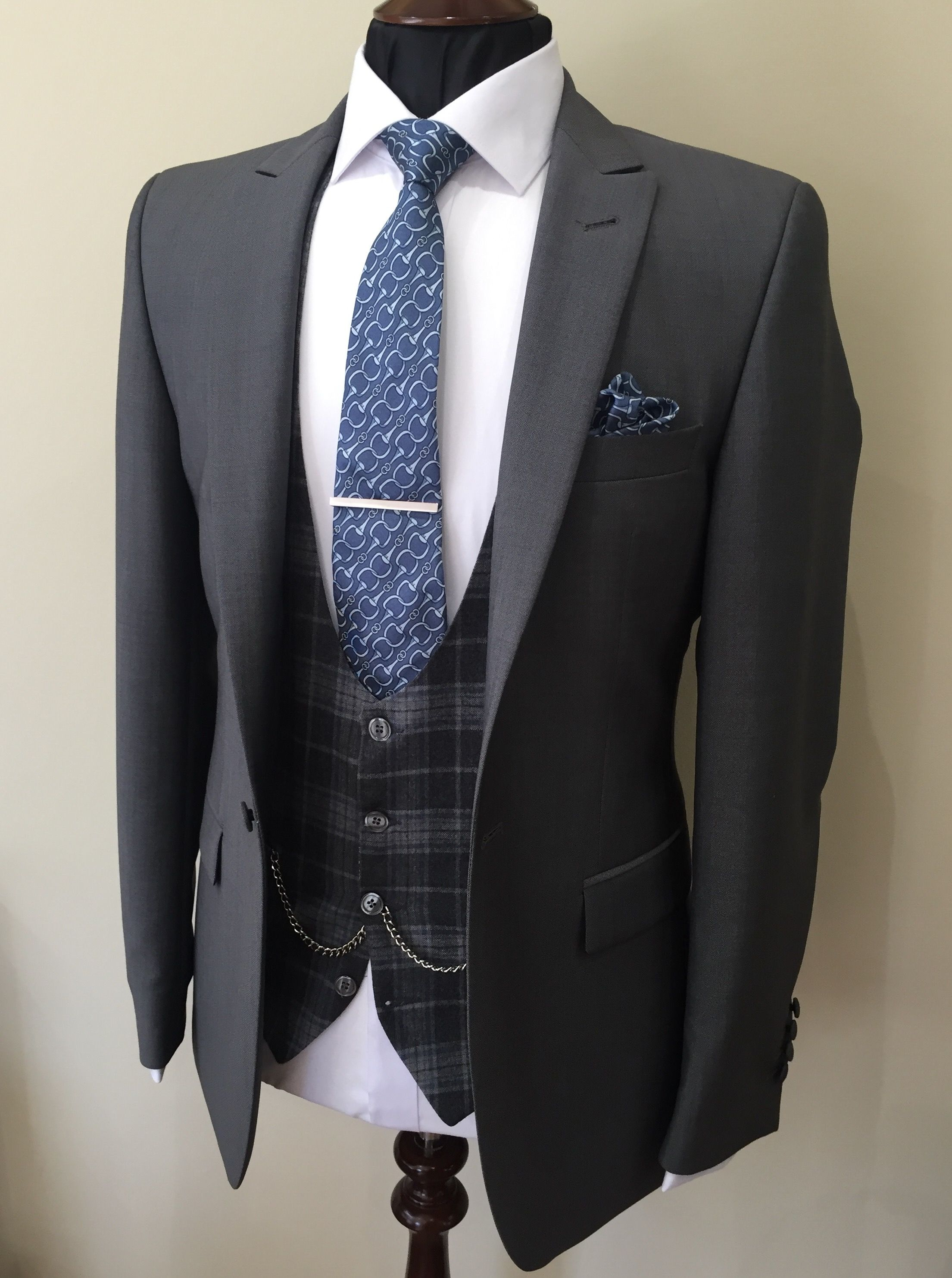 Slim Fit Grey Lounge Suit Grey Check Bow Waistcoat Groom Suit Wedding Suit Wedding Suits Men Wedding Suit Hire Vintage Wedding Suits