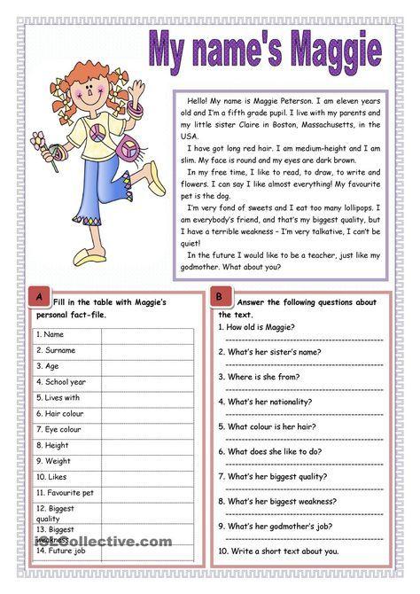 My Name S Maggie Aulas De Ingles Caca Palavras Em Ingles