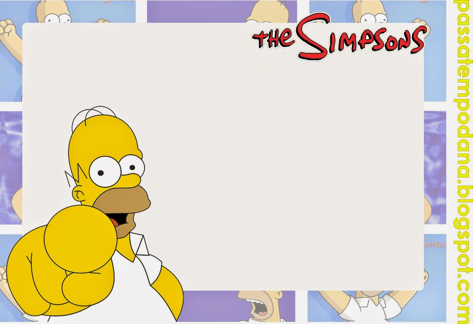 The Simpsons: Free Printable Invitations, Toppers and Stickers ...