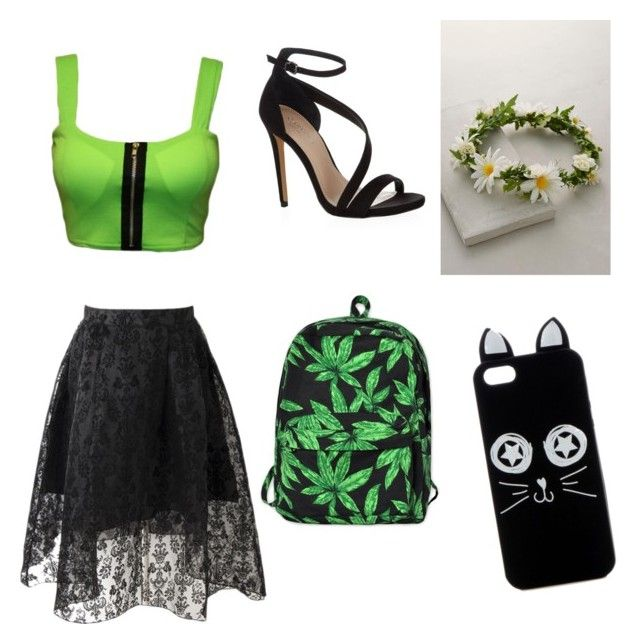 """""""green"""" by knijahb ❤ liked on Polyvore featuring Carvela Kurt Geiger, Motel, women's clothing, women, female, woman, misses and juniors"""