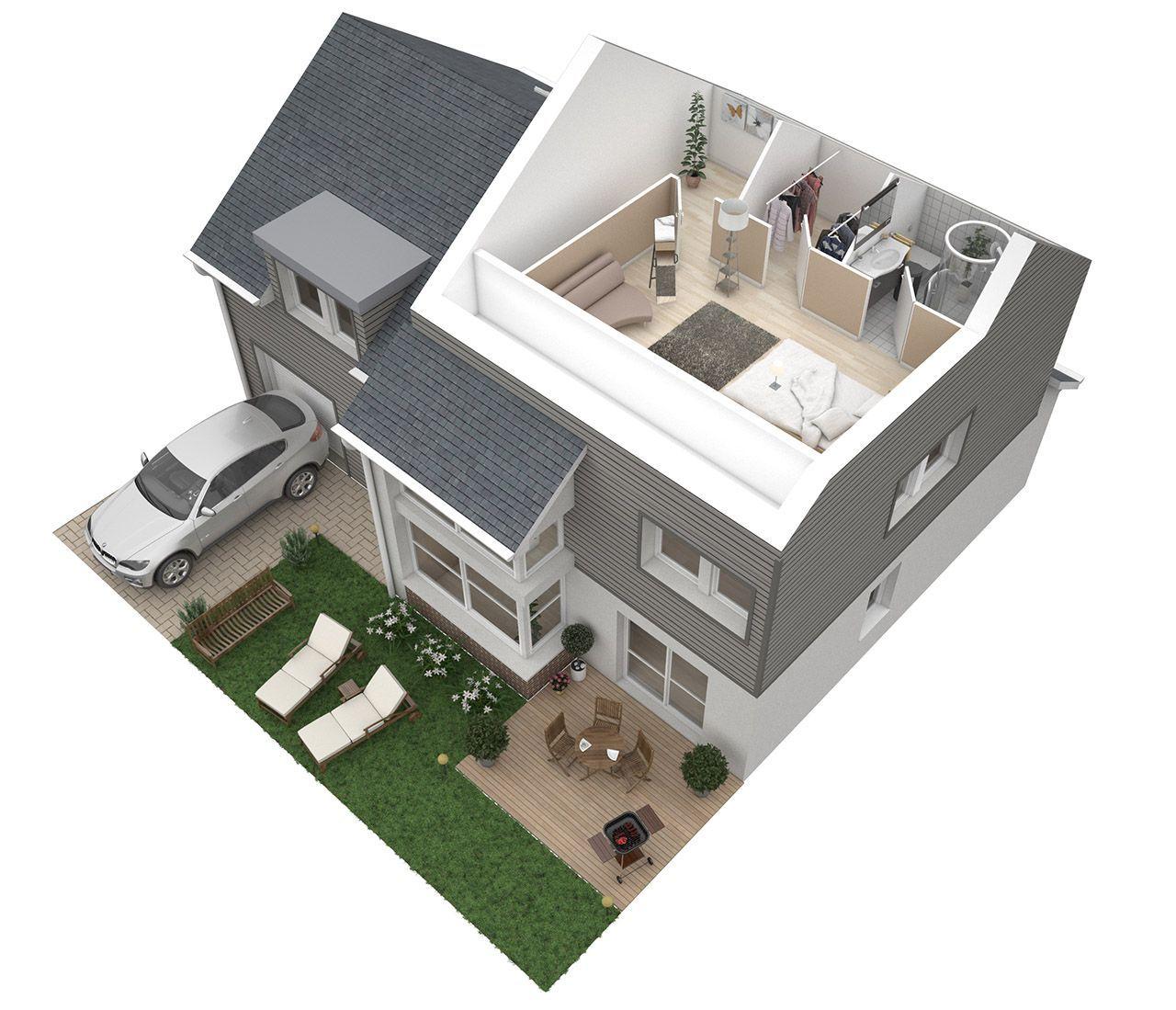 Plan De Maison Duplex 3d Sims House Plans Duplex Floor