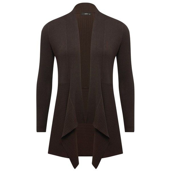 M&Co Ribbed Waterfall Cardigan (1.050 RUB) ❤ liked on Polyvore ...