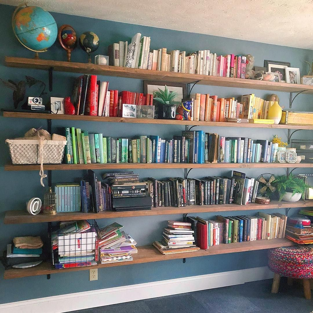 Simple Diy Bookshelf Build Ad Aesthetic Diy Bookshelf Wall