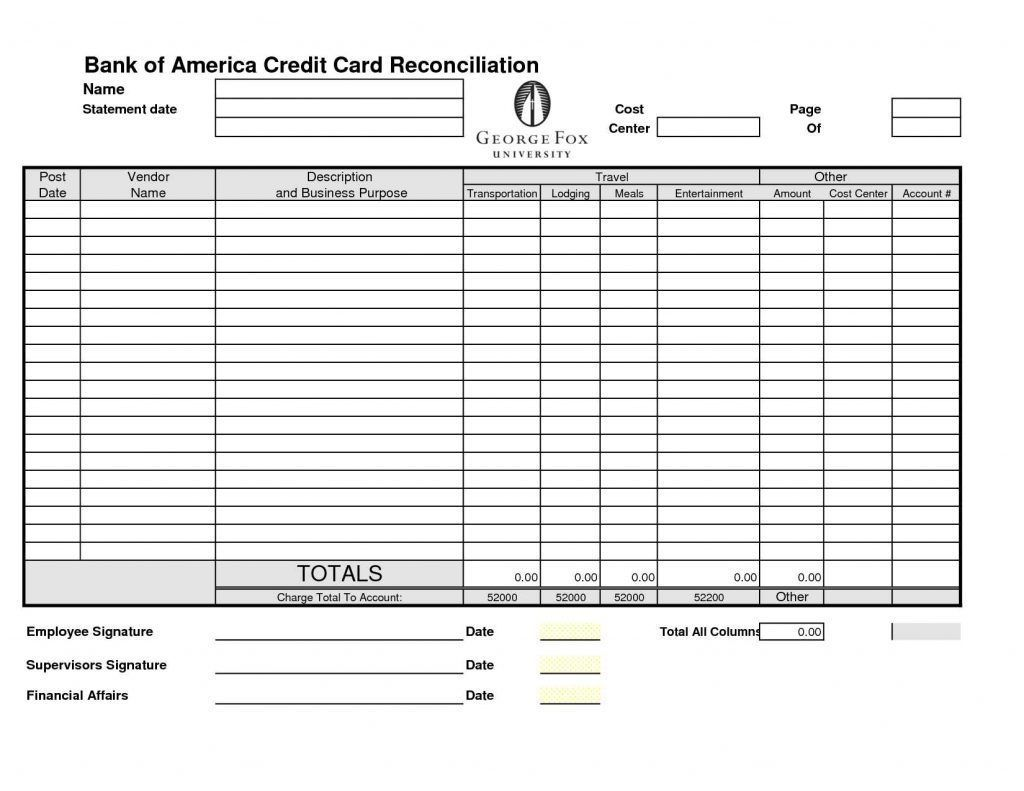 Credit Card Picture The Awesome Bank Reconciliation