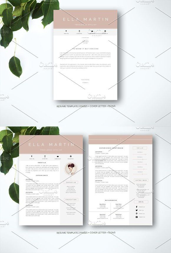 Resume Template for MS Word #resumetemplate #cvtemplate Resume - ms resume templates