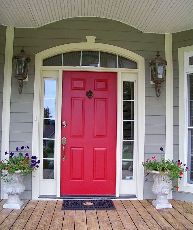 No color named: Red Front Door Paint Colors Simple Decor 20 On ...