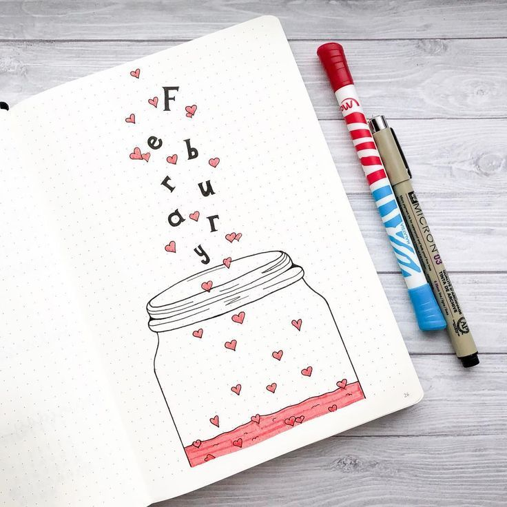 Photo of Bullet Journal Heart Theme Inspiration – Planning Mindfully