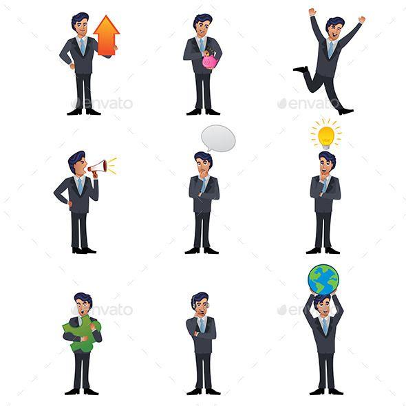 Businessman Icons (CS, adult, business, businessman, clip ...