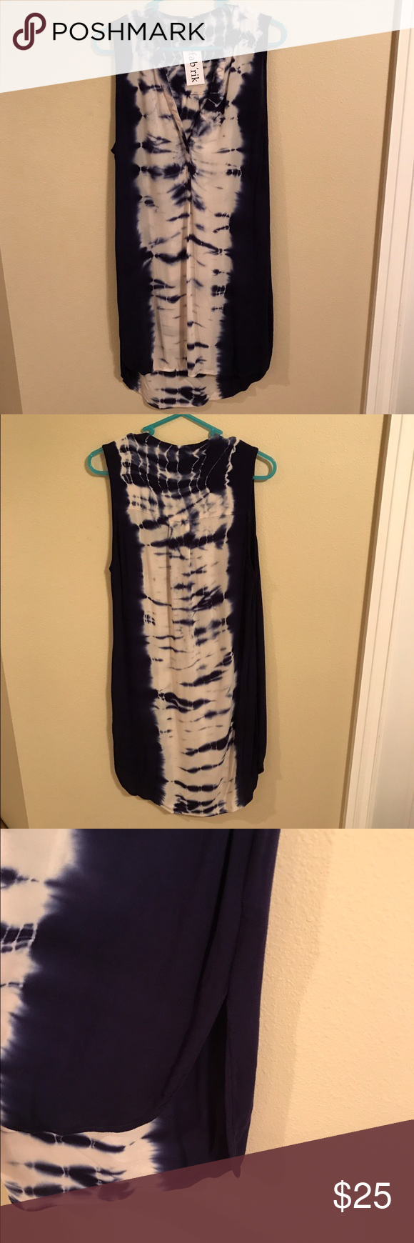 Fabrik Tie Dye T-Shirt Dress/ Cover up fabrik boutique NWT. Lightweight material. See-through so needs to be worn with an off white slip (as a dress) or can be worn as a swim suit cover up! Slits up side. Super soft. Fabrik Dresses Mini