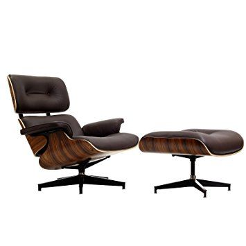 Lovely Leather Wood Lounge Chair