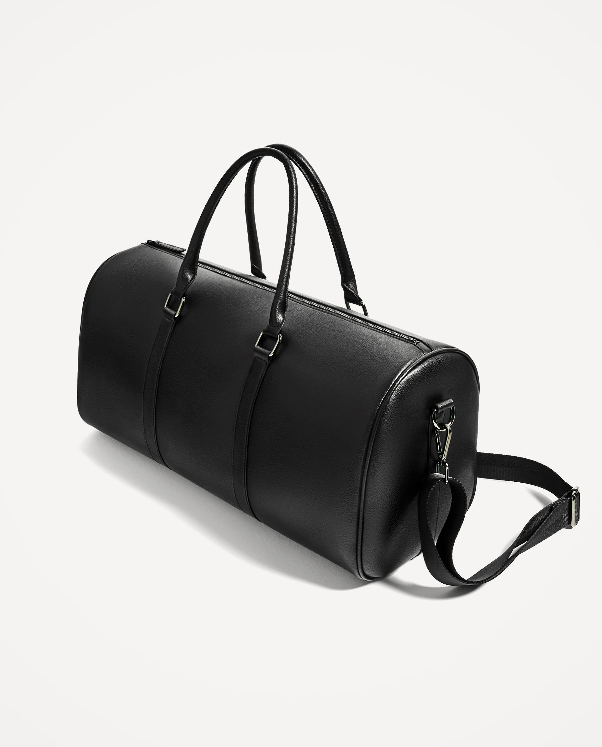 958620b7e1 ZARA - MAN - CLASSIC BLACK DUFFLE BAG