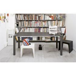 Photo of Kristalia Sushi Fenix-ntm® extendable table 100 x 200/247 / 294cm table top white Kos 0032, legs