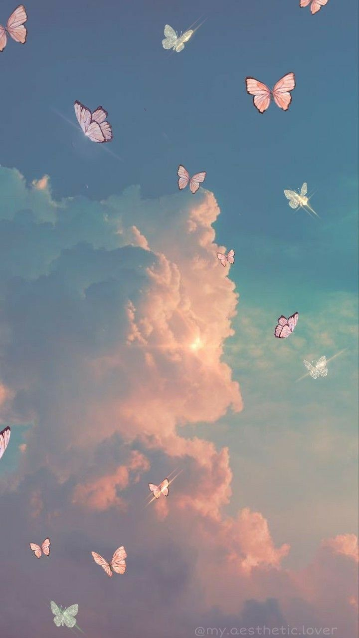 aesthetics sky clouds in 2020   Cute patterns wallpaper ...