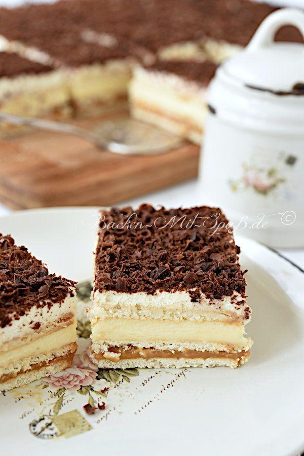 Butterkeks Karamell Cremeschnitten Rezept Butterkekse Kuchen Und Torten Rezepte Susse Kuchen