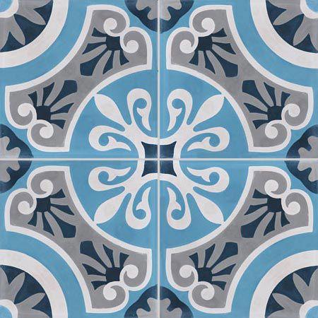 Carreau De Ciment Bleu Cercle L 20 X L 20 Cm Avec Images Carreau De Ciment Carreau Carreaux De Ciment Salle De Bain