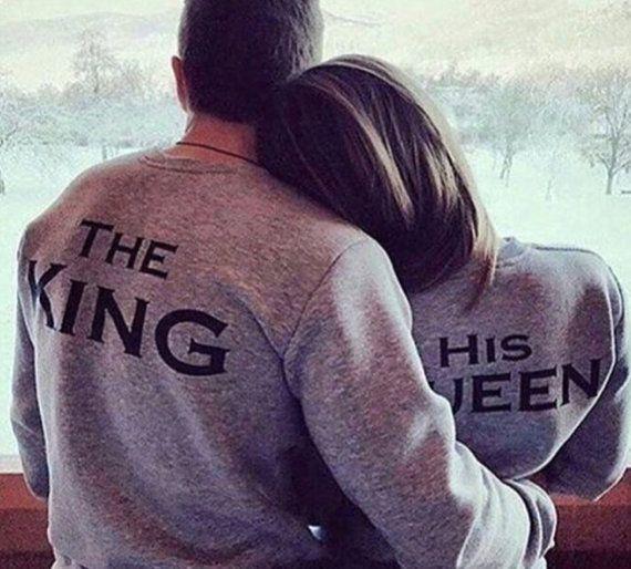 Der Konig Und Seine Konigin Paare Pullover Passend Hemden Sein Und Ihrs King Queen Royals Herr Frau Braut Und Brautigam Tumbl Relationship Couples Couple Goals