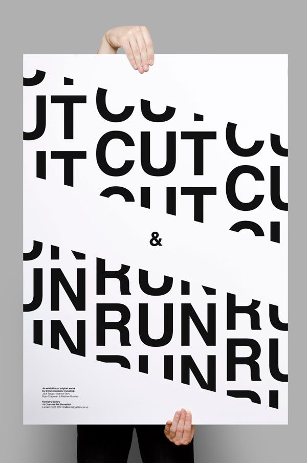 10 gorgeous typographic posters to inspire you Shapes, Nice and - lost poster template