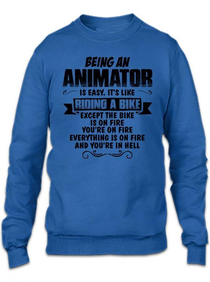 being an animator copy Crewneck Sweatshirt
