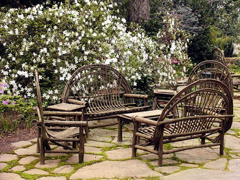 High Quality Willow Furniture Natural Stone Patio LOVE!
