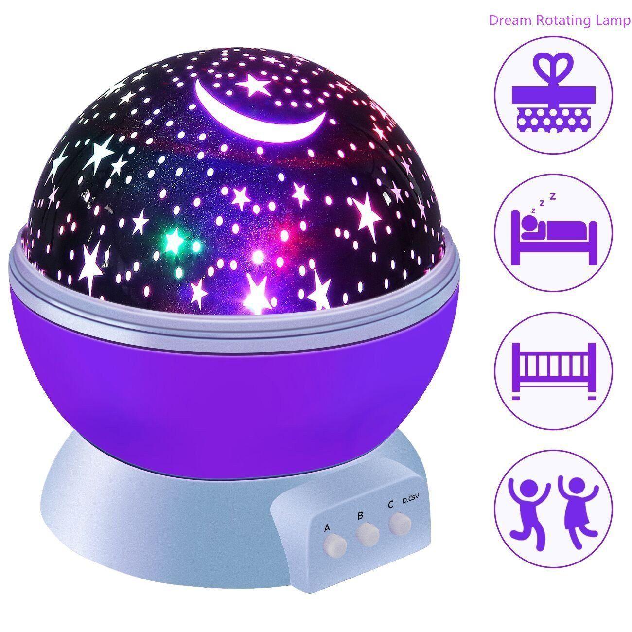 Star Projector Lamp New Generation Novelty Starry Night Light 360 Degree Led Rotating Cosmos Projector Star Projector Lamp Star Night Light Baby Night Light