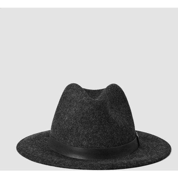 f179b5c815d AllSaints Bronson Leather Fedora Hat (£53) ❤ liked on Polyvore featuring  men s fashion