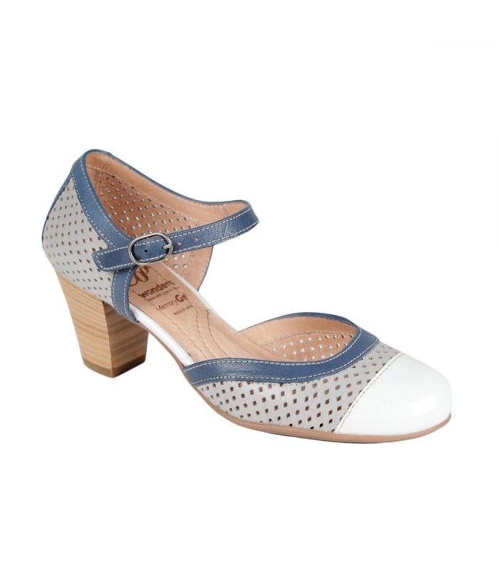 Zapatos piel de de nude salón Wonders color mujer de rUABwr