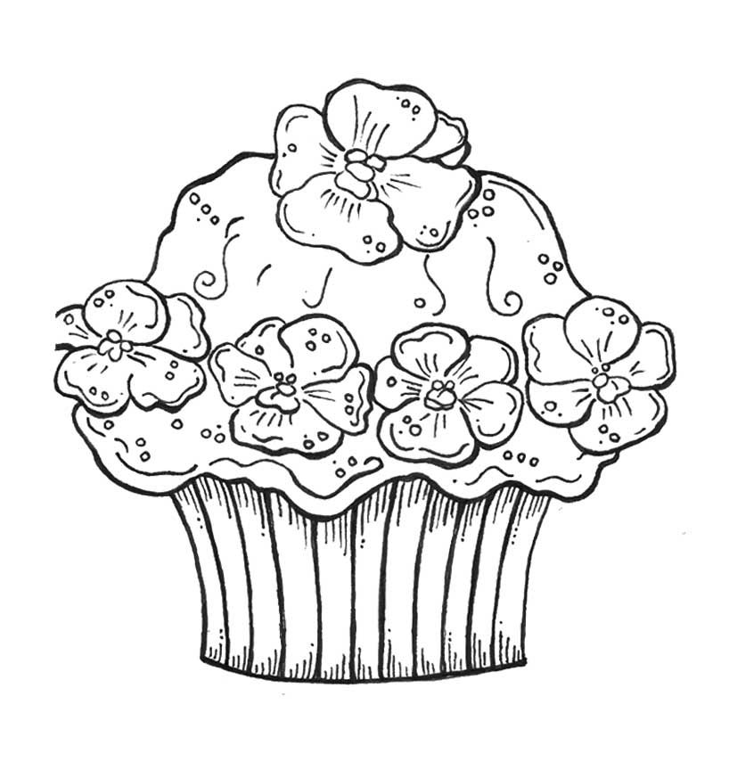 birthday cupcake coloring pages 6 httpbirthday cake picturescom