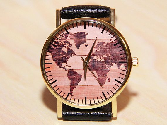 Wristwatches world map world map watch wooden clock mens watches wristwatches world map world map watch wooden clock mensfashionwatches gumiabroncs Images