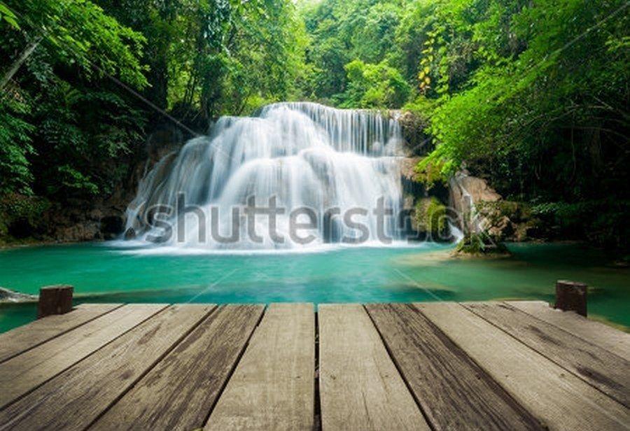 Фотообои Водопад, 02543 | Водопады, Фотообои, Национальные ...