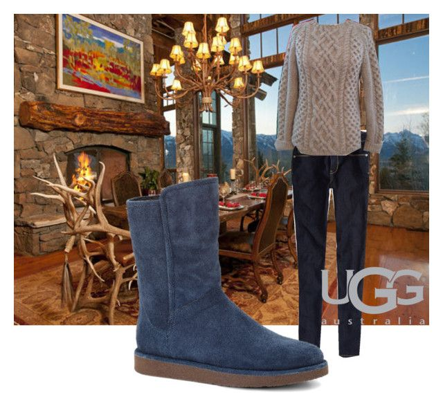 """""""Boot Remix with UGG : Contest Entry"""" by auroralilac ❤ liked on Polyvore featuring American Eagle Outfitters and UGG Australia"""