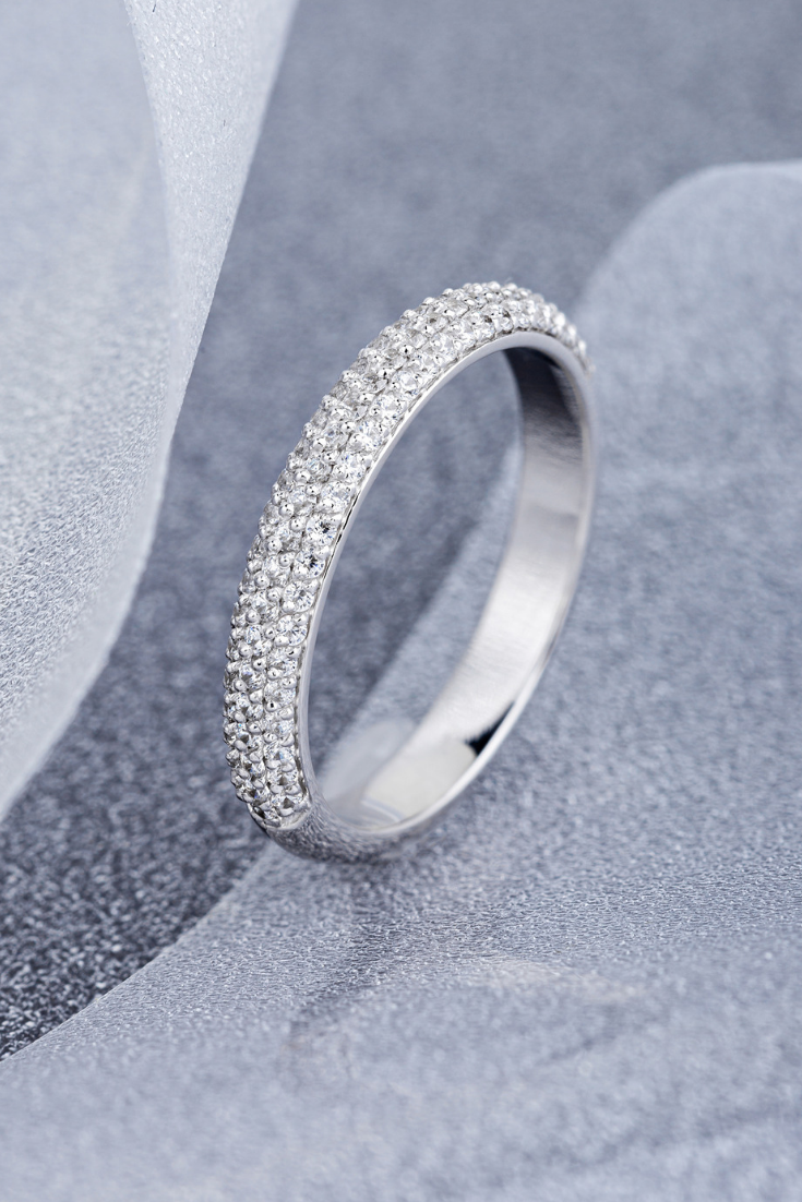 White Gold Womens Wedding Ring With Top Quality Diamonds Etsy In 2020 Beautiful Wedding Ring Sets Wedding Rings For Women White Gold Wedding Rings