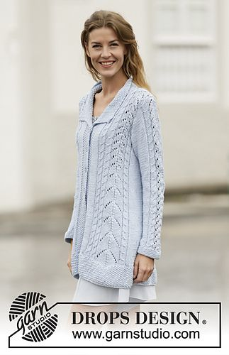 Long Cardigan 161 2 Weekend Love By Drops Design Free Knitting
