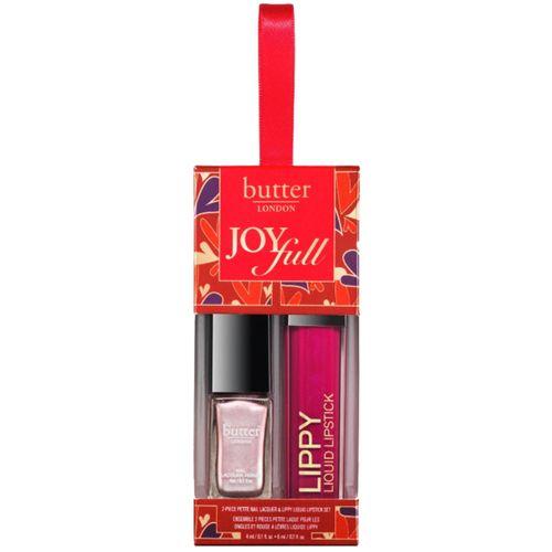 butter LONDON - Joyfull 2-Piece Petite Nail Lacquer & Lippy Liquid Lipstick Set