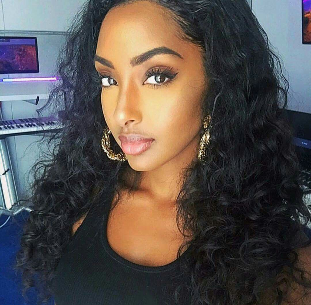 Pin By Esra On African Mixed Race Beauties Beauty Stylish Makeup Hair Goals